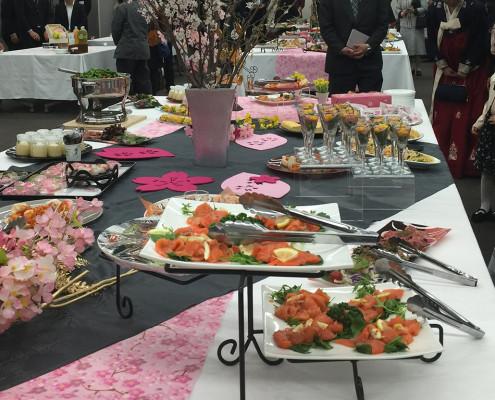 春季課程博士学位授与式パーティー料理