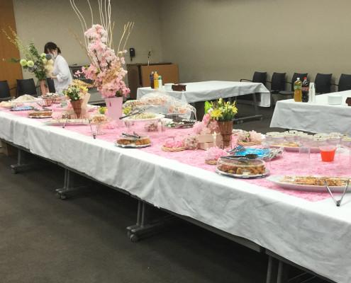 修士学位授与式パーティー料理