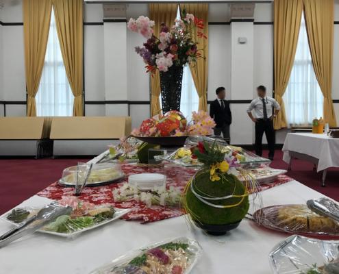 京都大学総長賞受賞者懇親会用パーティー料理のお届け