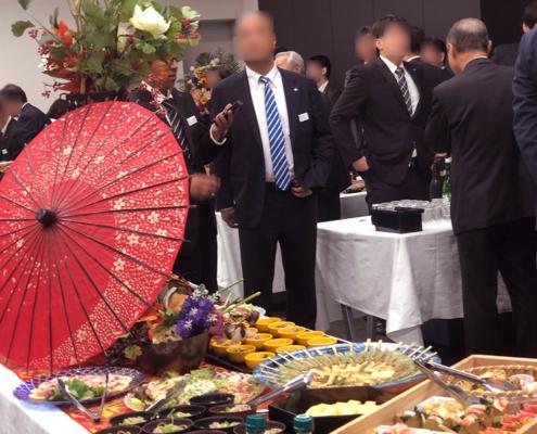 会社再編成10周年記念式典用パーティー料理のお届け