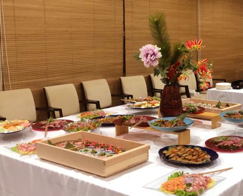 国際学際生命科学年会2019(ILS2019)用パーティー料理のお届け